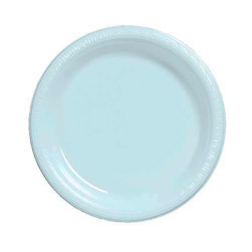 Creative-Converting-Touch-of-Color-20-Count-Plastic-Dinner-Plates-Pastel-Blue