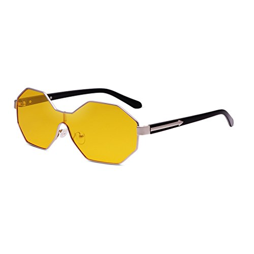 Para Montura De Hombres Amarillo Gafas De Sol Color Personalizadas Con Grande Poligonales Gafas Rojo Sol WANGXIAOLIN X8PqUq