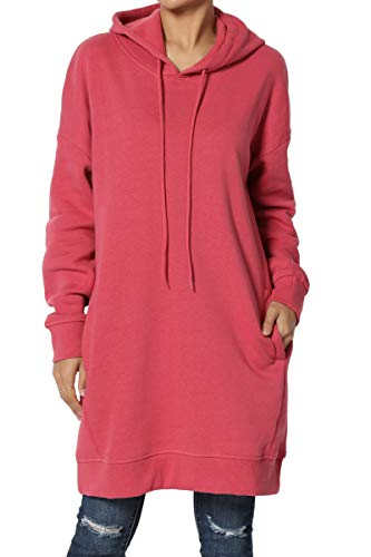 TheMogan S~3X Basic Loose Fit Pocket Pullover Hoodie Long Tunic Sweatshirts – DiZiSports Store