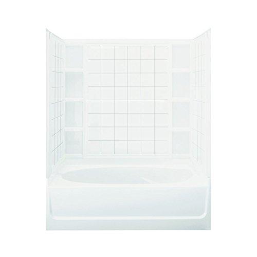 STERLING 71100119-0 Ensemble AFD Bath Tub and Shower Kit, 60-Inch x 36-Inch x 74.25-Inch, - Bathtub Afd
