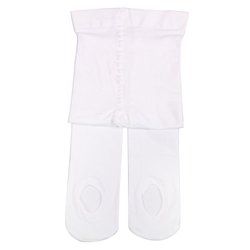 Girl's Ballet Dance Tights - Ultra-Soft Toddler Ballet Tights for Women (White, S) ()