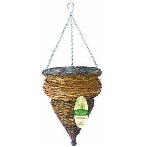 Gardman R292 Rustic Rattan Hanging Urn Basket, 12