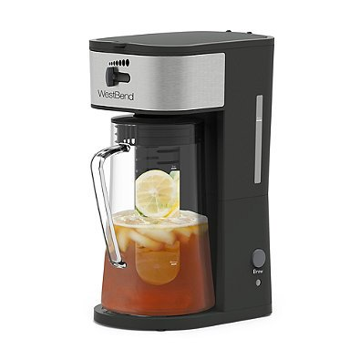 West Bend IT500 Convenient 88 oz. Gray Ice Tea Maker with Water Window Gauge, Built-in Drip Tray and Automatic Shut-off Feature