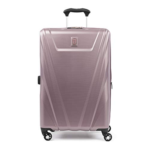 (Travelpro Maxlite 5 25-inch Expandable Hardside Spinner Luggage, Dusty Rose)
