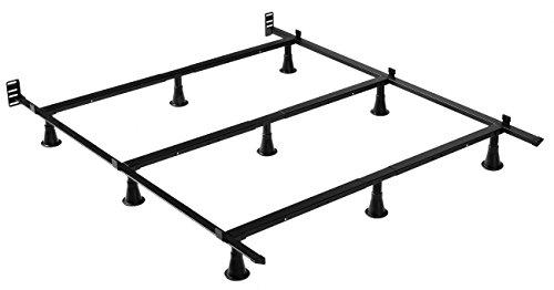 Leggett & Platt Prestige Premium Adjustable Bed Frame P56 with Push-Pin Size Adjustment and Oversized Recessed Glide Legs, Queen - ()