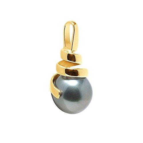 Pendentif Perle de Tahiti et Or Jaune 375/1000 -Blue Pearls-BPS K223 W