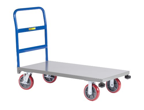 Little-Giant-NCB-3672-8PYBK-12-Gauge-Steel-Heavy-Duty-Platform-Truck-with-8-Polyurethane-Wheels-3600-lbs-Capacity-72-Length-x-36-Width