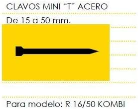Cevik MCMINIT-30 Clavos Mini T Acero Largo 30 mm Caja de 3 Millares