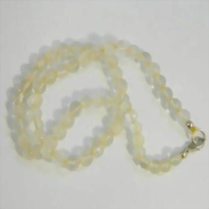 Collar de perlas calcita 45 cm piedra semi preciosa colgante piedra curativa gema