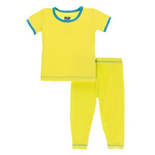 - Kickee Pants Little Boys Solid Short Sleeve Pajama Set, Banana with Amazon, Boys 7 Years