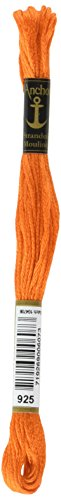 (Anchor Six Strand Embroidery Floss 8.75 Yards-Tangerine Very Dark 12 per box)