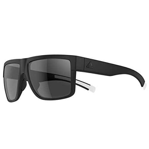 adidas 3matic Non-Polarized Iridium Rectangular Sunglasses, Black Matte, 60 mm