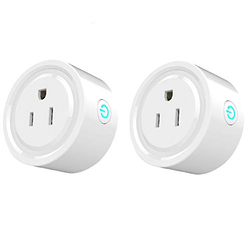 Smart Plug Mini 2 Packs WiFi Enabled Smart Outlet Work with Amazon Alexa & Google Home,Remote Control your Devices from Anywhere,No Hub Required,ETL& FCC certification, Smart Socket by GinCuky