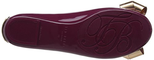 Ted Baker Women's Larmiap Closed Toe Ballet Flats Red (Maroon/Serenity #Ff0000) MhNCIMsf