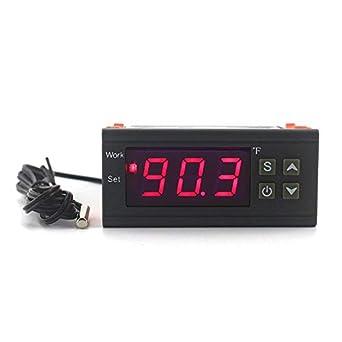 Digital LCD Thermostat Temperaturregler Heating Cooling Control 220V 12V