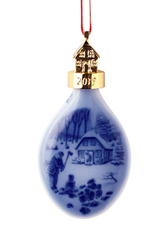Bing and Grondahl 1027177 Collectible Christ mas Drop Ornament, Porcelain, 3.75