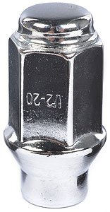 (Cragar 27804-4: Lug Nuts, Conical Seat/Shank, 1/2 in. x 20 RH, Closed End, Chrome Plated Steel, Set of 4)