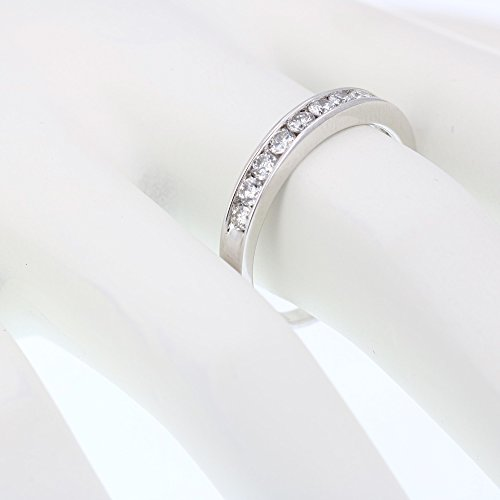 AGS Certified I1-I2 1/2 ctw Classic Diamond Wedding Band 14K White Gold Size 4.5 by Vir Jewels (Image #3)