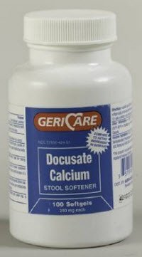 - 1082403 PT# 57896042401 Docusate Calcium Capsule Laxative 240mg Oral 100/Bt Made by Geri-Care Pharmaceuticals