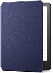 Capa de couro para Novo Kindle Paperwhite (11ª geração - 2021) - Cor Azul Marinho