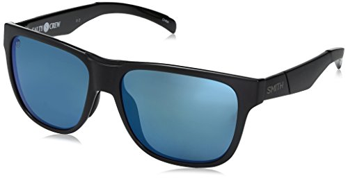 Smith Optics Lowdown Chromapop Polarized Sunglasses, Matte Black/Salty Crew, Blue Mirror (Smith Lowdown Sunglasses)