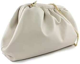 Luxury Fashion | Avenue 67 Woman AS201A0021CREAM White Leather Pouch | Spring Summer 20