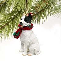 Pit Bull Terrier Miniature Dog Ornament - White
