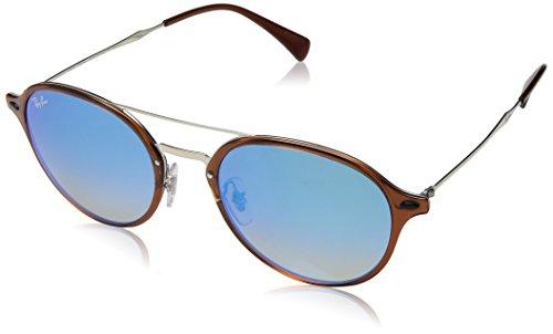 (Ray-Ban Plastic Unisex Square Sunglasses, Light Havana, 55 mm)