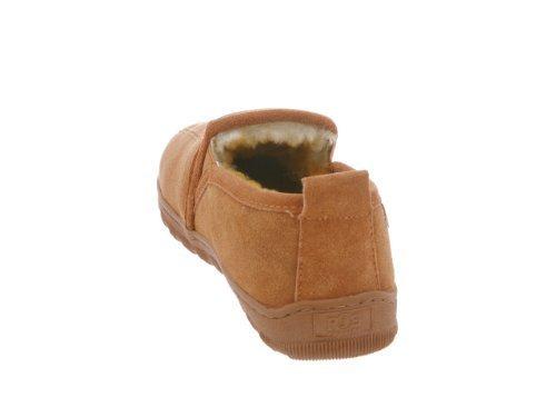RJ's Fuzzies Mens Sheepskin Leather Romeo Slippers (Chestnut, 10) by RJ's Fuzzies (Image #2)