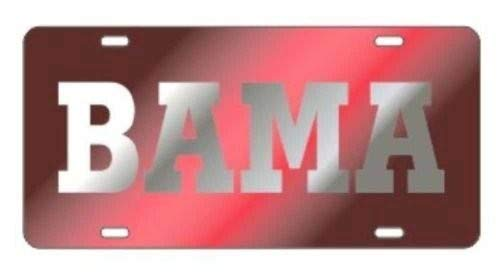 Laser Cut Tag - The University of Alabama Silver on Red