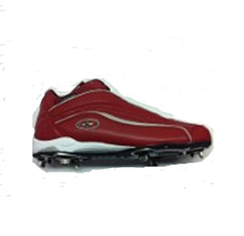 Crampons De Baseball Mid-of-metal Easton Tonnerre, Hommes Rouge 9 1/2