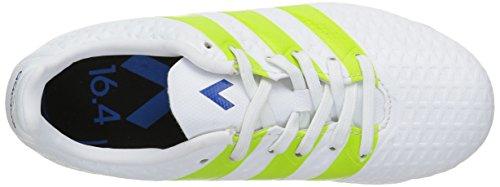 adidas Unisex-Kinder Ace 16.4 FxG J Fußballschuhe Weiß (Ftwr White/Semi Solar Slime/Shock Mint)