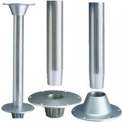 Garelick 75351:01 Table Pedestal for Larger Boats - Surface Mount Base with Fluted Anodized Tube