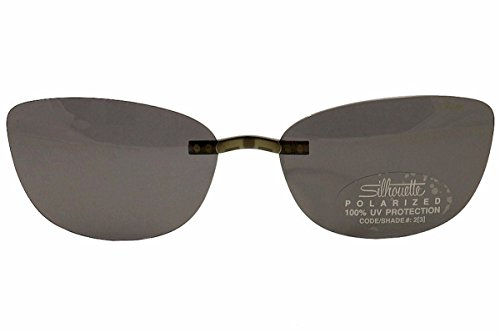 Silhouette Titan Contour 5076 Sunglasses Clip-On 4475 Gray Polarized - Sunglasses Glasses On Clip Silhouette