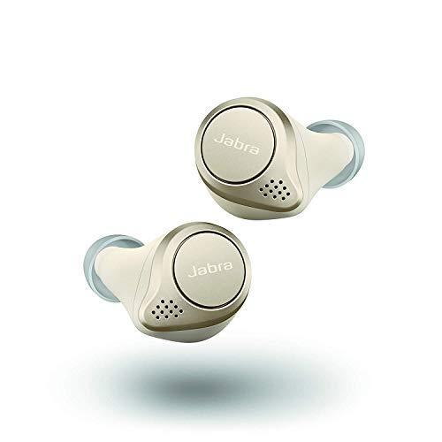Jabra Elite 75t گوشواره های بی سیم واقعی با مورد شارژ - بژ طلایی