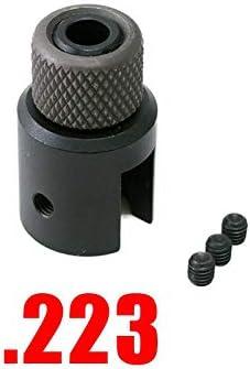 NO LOGO L-Yune, Barril táctico Extremo del Adaptador de Rosca de 1 / 2x28 5/8-24 Bozal con Freno de Acero con estrías del Protector de roscas (Color : 223)