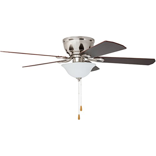 Prominence Home 80031-01 Woodmere Low-Profile Hugger Ceiling Fan with LED Bowl, 52 inches, Brushed Nickel by Prominence Home (Image #3)