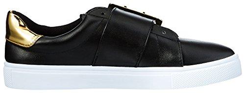 Qupid Womens Reba-174BX Sneaker Black LUXfs1Kp
