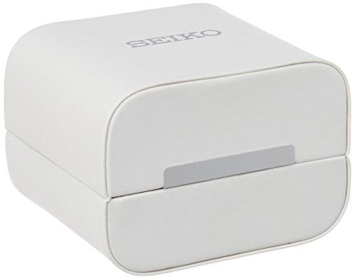 Seiko Men's SPC131P1 Neo Classic Alarm Perpetual Chronograph White Dial Black Leather Strap Watch