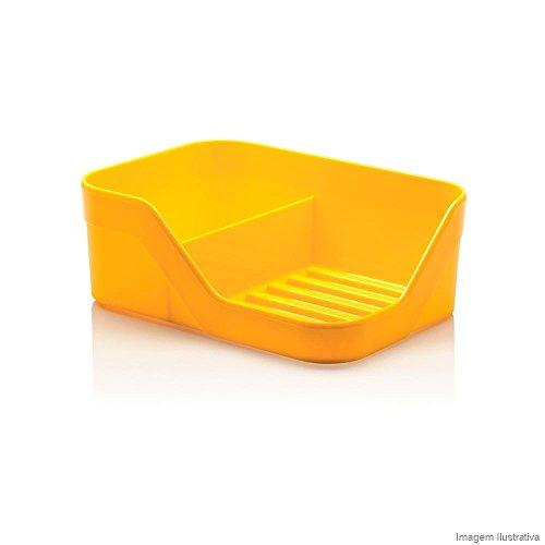 Organizador De Pia cozinha Discovery Duplo Amarelo Ou