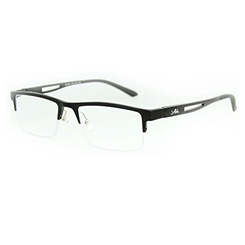 Alumni Optical Quality Reading Glasses with RX-Able Aluminum Frames 52mm x 19mm x 135mm (Black +1.50)