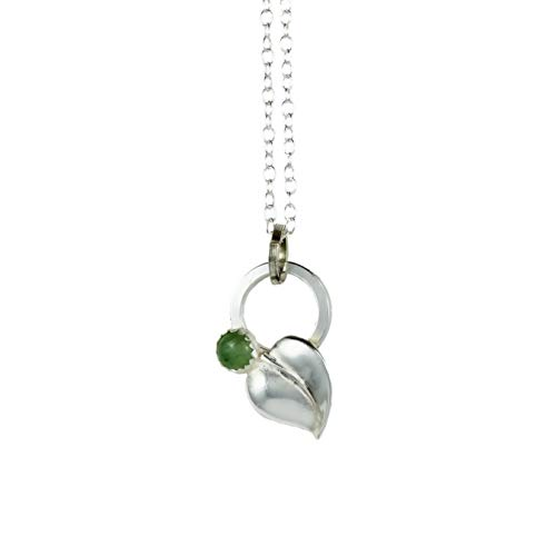 Spring Dainty Dangle Leaf Necklaces - Green Aventurine
