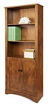 Realspace Dawson 5-Shelf Bookcase With Doors, 72
