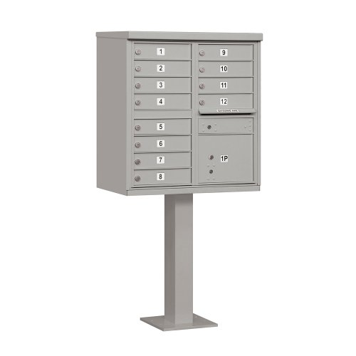 Salsbury Industries 3312GRY-U Type II Cluster Box Unit with 12 A Size Doors, Gray by Salsbury Industries