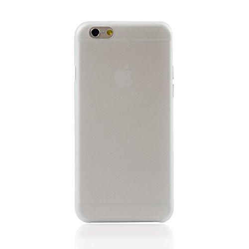 """iProtect Apple iPhone 6 (4,7"""") Hülle 0,3mm dünnes Soft Case Schutzhülle matt transparent weiß"""