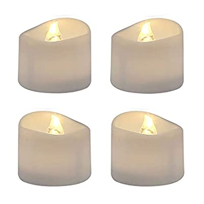 Aku Tonpa 25PCS Flameless Candles Battery Operated Tea Light Outdoor Pillar Flickering Electric LED Fake Votive Candle Gift Set