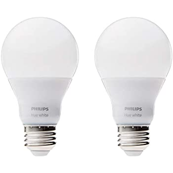 Philips Hue White A19 2 Pack 60w Equivalent Dimmable Led
