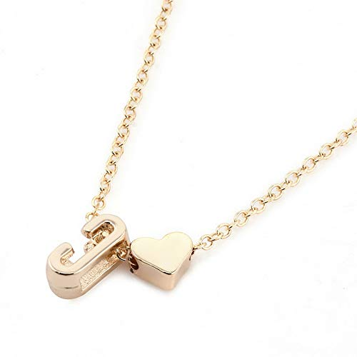 Hebel Gold Plated Initial Alphabet Letter A-Z Heart