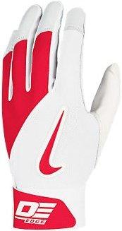 Nike GB0332 Diamond Elite Edge II Batting Gloves - Adult - White/University Red