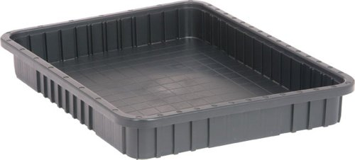 Quantum Storage Systems DG93030CO Dividable Grid Container 22-1/2-Inch Long by 17-1/2-Inch Wide by 3-Inch High, Black Conductive, - Long Dividers Storage Container Grid